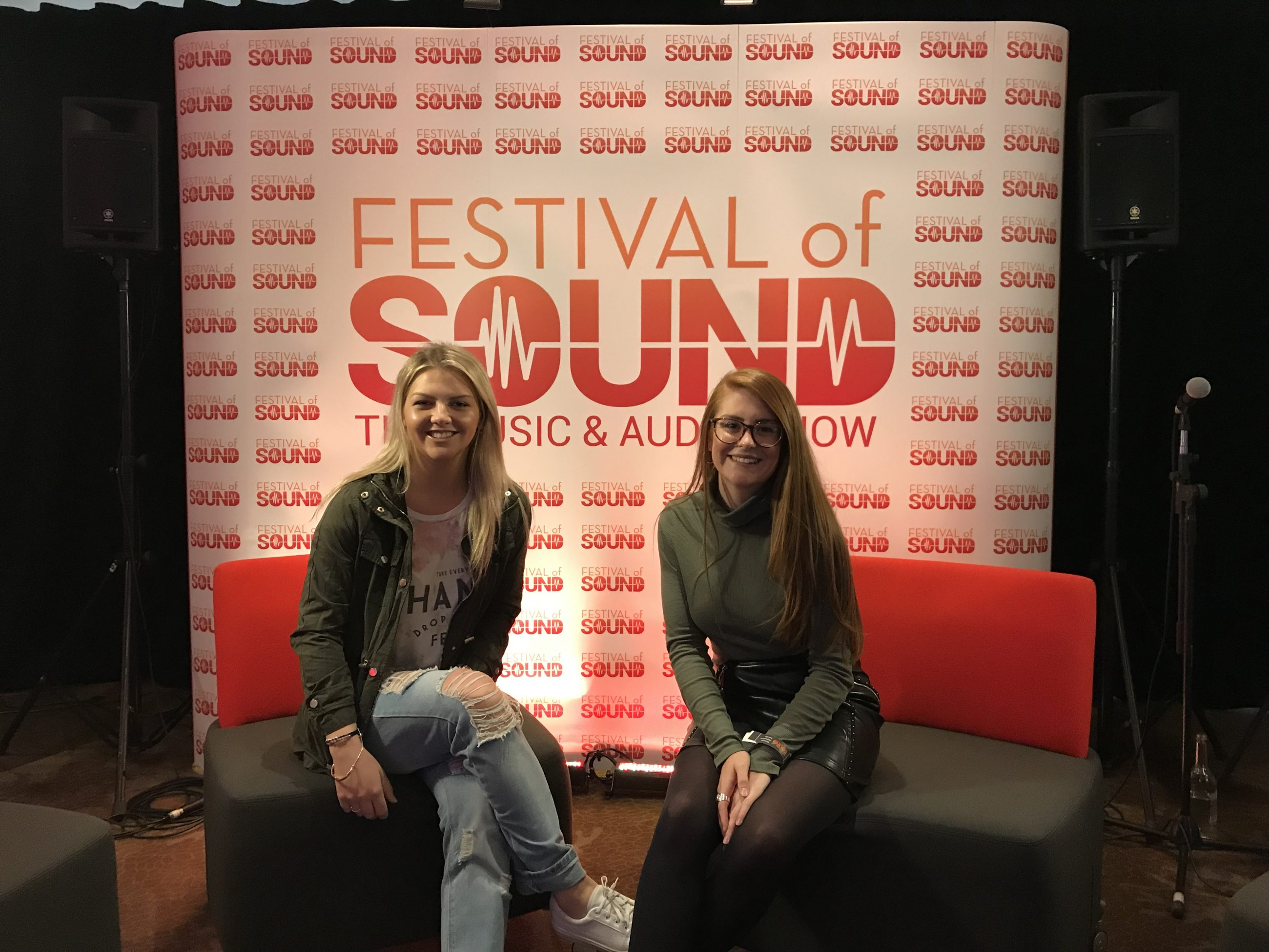 Hannah and Chloe at Festival of Sound