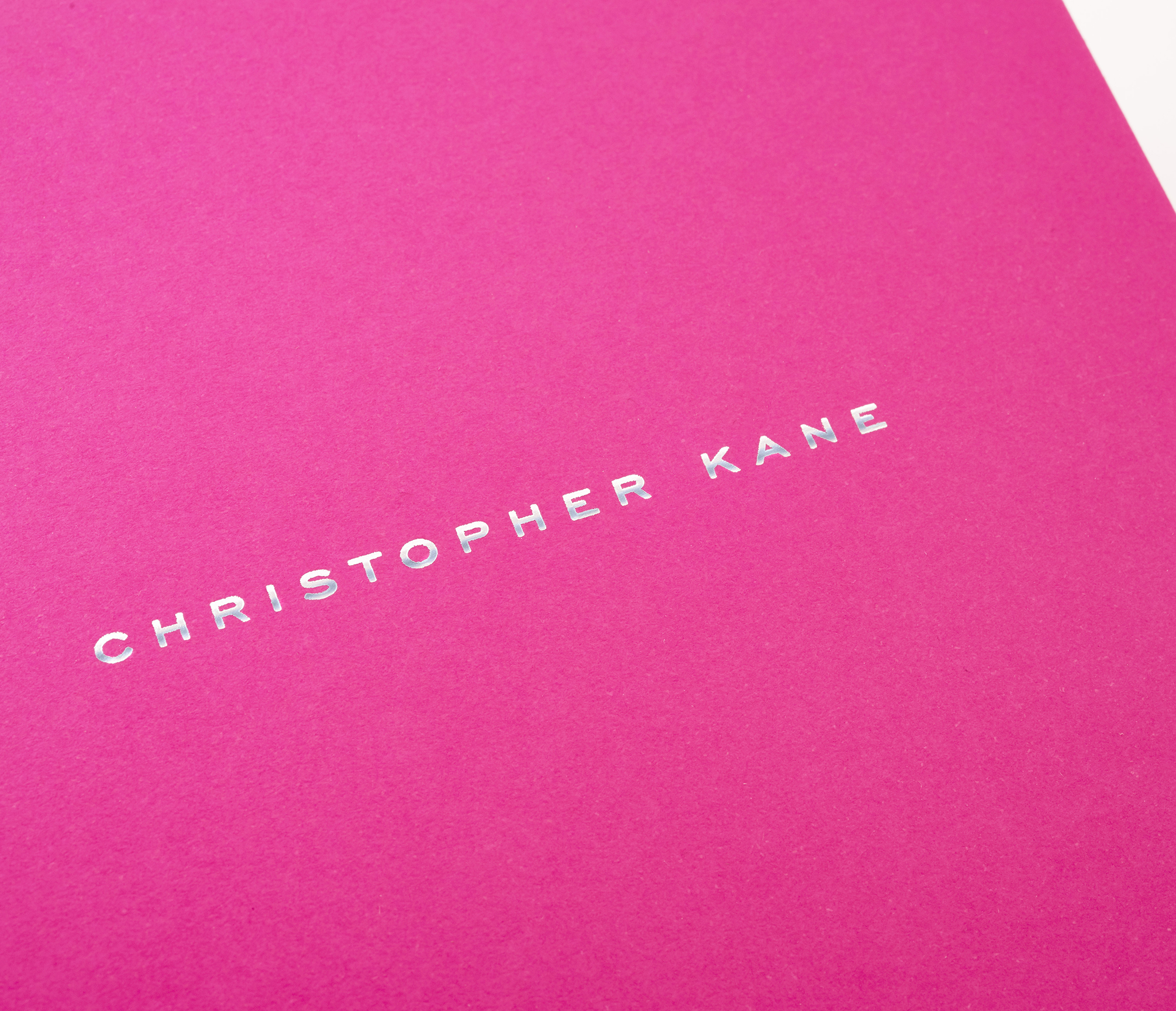 Christopher Kane invite printing | Close up