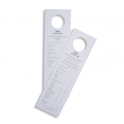 Aviator Hotel<br>Door Hangers