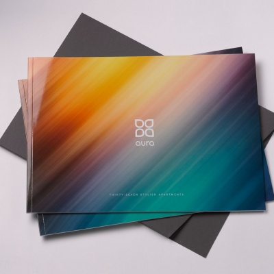 Aura<br>Perfect Bound Brochure & Folder